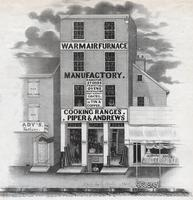 [Piper & Andrews, warm air furnace manufactory. Cooking ranges. 82 North Sixth Street, Philadelphia] [graphic].