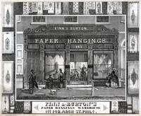 Finn & Burton's paper hangings warehouse No 142, Arch St. Phila. [graphic] / W. H. Rease No. 17 So. 5th St.
