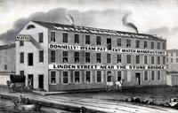 [Donnelly's steam patent match manufactory, Linden Street near the Stone Bridge, Philadelphia] [graphic].