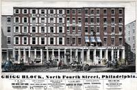 Grigg Block, North Fourth Street, Philadelphia. [graphic] / W.H. Rease, No. 17 1/2 South Fifth Street.