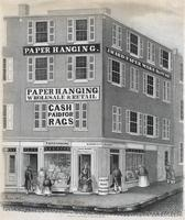 [Western Paper Hangings Establishment, 501 Market Street, Philadelphia.] [graphic] / Drawn on stone by Wm. H. Rease, 17 South 5th St.