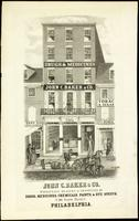John C. Baker & Co. wholesale dealers & importers of drugs, medicines, chemicals, paints & dye stuffs, No. 100, North Third St. Philadelphia. [graphic] / On stone by W. H. Rease No. 17 So. 5th St.