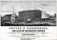 Potter & Carmichael, oil cloth manufacturers warehouse, No. 135, North Third Street, Philadelphia. [graphic] / Drawn on stone by H.W. Rease, No. 17, So. 5th St.