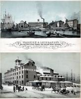 Warnick & Leibrandt's Philadelphia stove works and hollow-ware foundry. First wharf above Noble St. Philadelphia. [graphic] / From nature & on stone by W. H. Rease 17 So. 5th St.