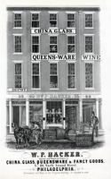 W. P. Hacker, importer and wholesale dealer in china, glass, queensware & fancy goods, No. 60, North Second Street, Philadelphia. [graphic] / On stone by W. H. Rease, 17, So. 5th. St.
