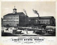 Abbott & Lawrence. Liberty Stove Works, Brown Street above Fourth St. Philada. [graphic] / Drawn & lithd. by A. Kollner.