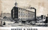 [Burton & Laning paper hanging manufactory, 6th Street above Camac, Philadelphia] [graphic] / On stone by Rease & Schell No. 17 Sth. 5th St. Phila.