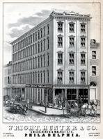 Wright, Hunter & Co. S.W. cor. Ninth & Walnut Sts. Philadelphia. [graphic] / On stone by R. F. Reynolds, No. 30, S 5th St.