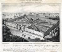 "This institution known as ""Cherry Hill State Prison"" at Philadelphia, is the model prison of ""The Pennsylvania System of Prison Discipline"" or ""Separate System"" as it is called to distinguish it from ""The Congregate."" [graphic] / From a drawing by convict"