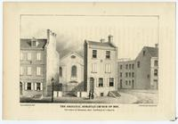 The original Moravian church of 1820. S.E. corner of Moravian Alley (now Bread Street) & Race St. [graphic] / Lith. by Herline & Hensel.