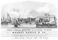 Penn Steam Engine & Boiler Works. Foot of Palmer Street, Kensington, Philadelphia. Reaney Neafie & Co. engineers, machinists, boiler makers, black smiths & founders. [graphic] / Lith. by W. H. Rease 4th & Chesnut St.