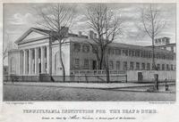 Pennsylvania Institution for the Deaf & Dumb. [graphic] / Drawn on stone by Albert Newsam, a former pupil of the Institution; From a daguerreotype by Collins.