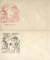 Union and Confederate old men envelope