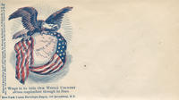 Eagle with globe and flag envelope