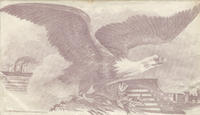 Eagle with shield, locomotive and ship envelope