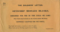 Soldiers' letter and officers' message blanks envelope