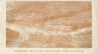 Panoramic view of fortifications around Washington, D.C. envelope