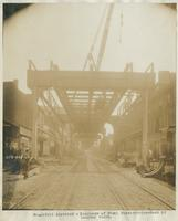 Progress of steel construction - bent 62, looking south, May 29, 1916.
