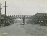 Girard Ave crossover without station girders - Front Street, September 14, 1916.