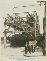 South end of span over Port Richmond branch, PRR, on Kensington Ave., showing progress of construction, September 11, 1916.
