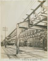Perspective of transverse girders in Front St. at bent 133, September 18, 1916.