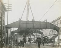 Progress of Steel Construction in Kensington Ave. at Bent # 244, looking south, October 9, 1916.