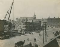 Progress of Steel Construction, Perspective of Kensington Ave. & Lehigh Ave., looking south, October 23, 1916.