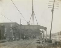 Progress of steel construction in Kensington Ave. at bent 369, looking south, Dec. 13, 1916
