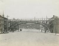 Profile of arch over Lehigh Ave. looking west, June 4, 1917.
