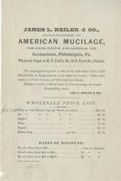 James L. Neiler & Co., manufacturers of American mucilage, for bank, office and general use, Germantown, Philadelphia, Pa.