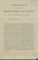 I. Newton Peirce & Co., manufacturers of Peirce's patent slate surface.
