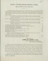 Hufty's double-length profile paper, rulings 42 inches long by 14 1/2 inches wide.