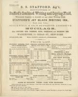 S. S. Stafford, ag't, manufacturer of Stafford's combined writing and copying fluid, warranted superior to Arnold's or any other writing fluid.