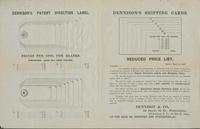 Dennison's patent direction label. Dennison's shipping cards.