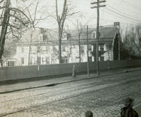 """Wyck"" Haines home, Walnut Lane & Main St., oldest house standing in Gt'n at this date."