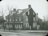 [[The]] Johnson House, Main & Washington Lane, built in 1768 by John Johnson. The doors & hall show marks of bullets in battle of Germantown.
