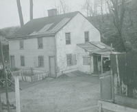 Old building, Fisher's Hollow, used as a powder mill during Revolution.