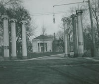 Entrance to Jewish Hospital. Columns formerly in front of U. S. Mint, Juniper & Chestnut.