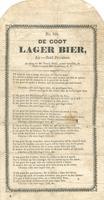 De Goot Lager Bier.