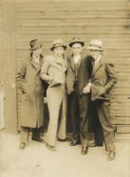 Four young men posing as gangsters, Philadelphia.