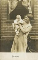 Mother holding infant, Philadelphia.