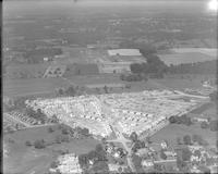 Aerial views of the construction of the Hollywood housing development, Abington Township, Pennsylvania.