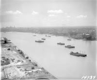 [North Philadelphia waterfront looking south along the Delaware River, Philadelphia.]