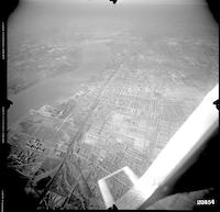 Extreme aerial views of the Holmesburg section of Northeast Philadelphia, Philadelphia.