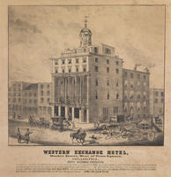 Western Exchange Hotel, Market Street, west of Penn Square, Philadelphia.