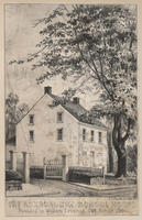 The Roxborough School House. Founded by William Levering, 1748, rebuilt 1795