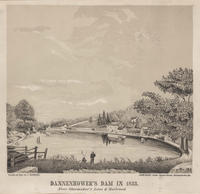 Dannenhower's [sic] Dam in 1833. Near Shoemaker's Lane & Railroad.