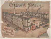 Chas. A. Smith. Barbers supplies. Jefferson and Randolph [Streets] Philadelphia.