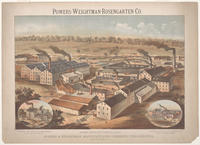 Powers-Weightman-Rosengarten Co. Works, East Schuylkill Falls. Powers & Weightman, Manufacturing Chemists, Philadelphia. Established 1818