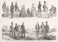 Fashions for spring and summer 1854 by S. A. & A. F. Ward, no. 100 Chesnut [sic] Street Philadelphia, Pa.